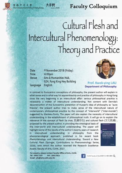 Cultural Flesh and Intercultural Phenomenology: Theory and